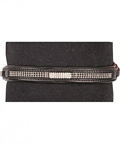 HKM Stirnband Prince Farbe schwarz, Größe Warmblut -