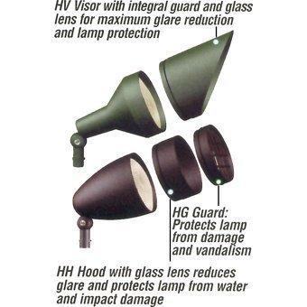 Rab Lighting Guard (RAB Lighting HG1A H System Guard, Aluminum, Bronze Color by RAB Lighting)