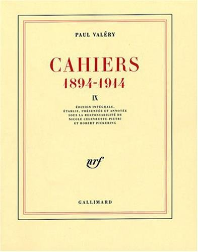 Cahiers : 1894-1914, volume 9