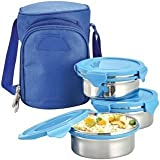 Tuelip Zippy Steel 3 Containers Lunch Bo...