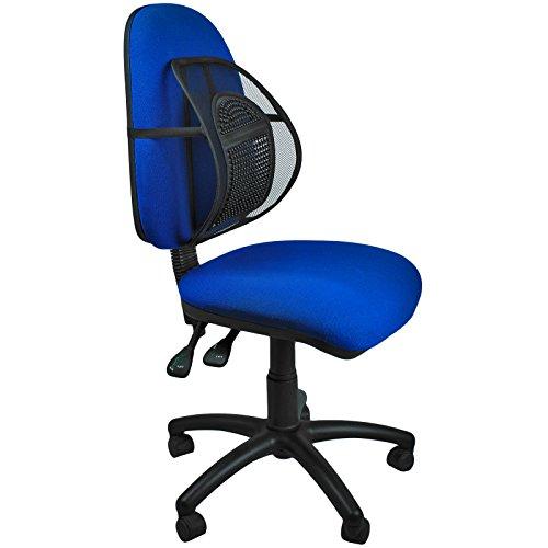 AMOS Sit Tight Super Komfort Rückenstütze Rückenlehne Gitter Lordosenstütze Lendenstütze für Büro Stuhl Sitz mit Elastischer Befestigungsband und Massage-Knoten