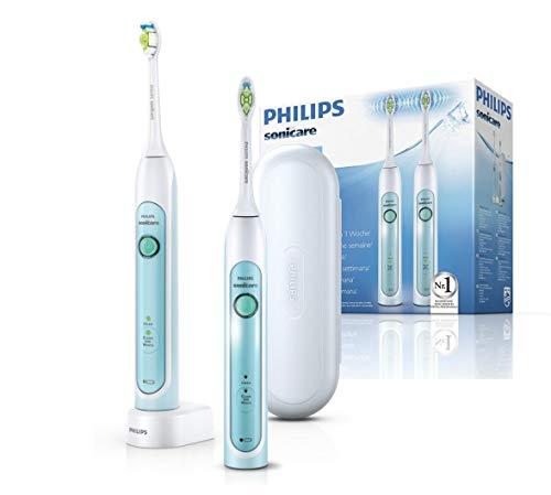 Philips Sonicare HX6732/37 HealthyWhiteElektrische Zahnbürste mit Schalltechnologie, weiß/grün, Doppelpack
