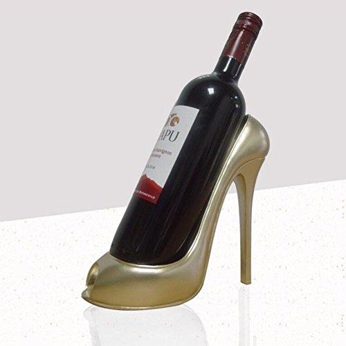 GAO Wein-Flasche holde Wein Spirituosen-Regal, Kunstharz mit rackhome Dekoration champagnerfarben