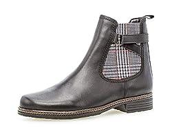 Gabor Damen Stiefelette 34.670, Frauen Chelsea Boots,Stiefel,Halbstiefel,Bootie,Schlupfstiefel,flach,schwarz (Kombi),38 EU / 5 UK