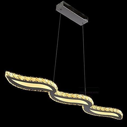Nordic LED Acryl Wavy Decke Beleuchtung Eisen Beschichtung Restaurant Kronleuchter 97 * 120CM LED Patch Lichtquelle (Carry Patch Lichtquelle) ( Color : Warm light )