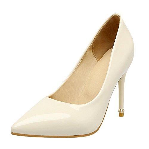 Mee Shoes Damen Stiletto spitz Geschlossen Pumps Beige