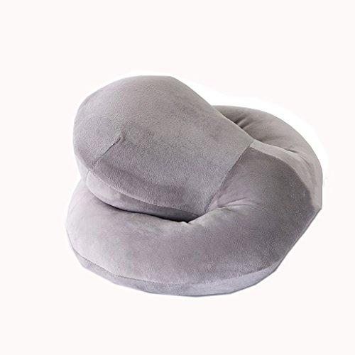 Dossier De Chevet Simple Coussin Mordern Convient pour canapé-lit Chaise Coussin de siège Pure Couleur Confortable Avec Big Head (Silver Grey Color) (taille : 36 * 26 * 18cm)