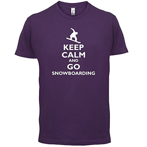 Keep Calm and Go Snowboarding - Herren T-Shirt - 13 Farben Lila