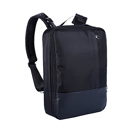Skitic Multi-funzionale Impermeabile 16.5 Pollici Laptop Backpack Zaino,Convertibile Messenger Singola Tracolla Borsa Bag, Attività Commerciale Travel Borsetta Handbag per Macbook / Notebook / Tablet PC / Ultrabook / Chromebook - Nero