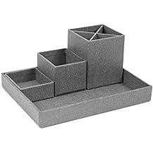 Bigso Box of Sweden 7974C6401 - Organizador de escritorio con paneles de fibra de color gris (23,5 x 18 x 11 cm)