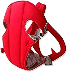 GTC Adjustable Hands-Free 4-in-1 Baby Carrier Bag , Carry Bag , Front Carry Bag with Comfortable Head Support & Buckle Straps (New Red)