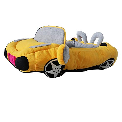 ZHOUYANCNeues kreatives Auto Kennel Katzenstreu Mercedes-Benz Auto Haustier Nest Winter warm Hundebett