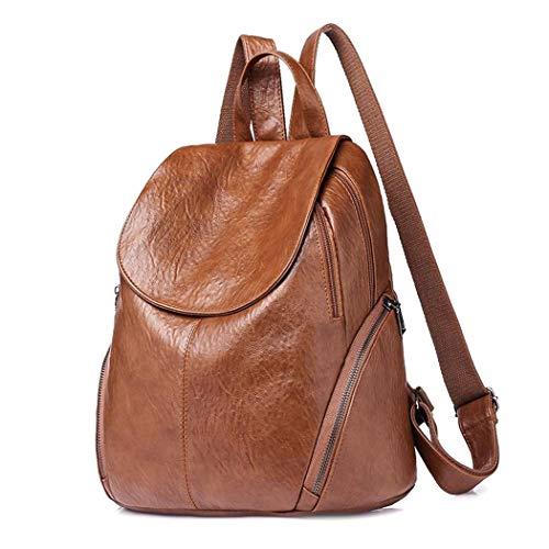 Damen Rucksack wasserdichte Daypack PU Leder Tasche für Schule Reise Arbeit