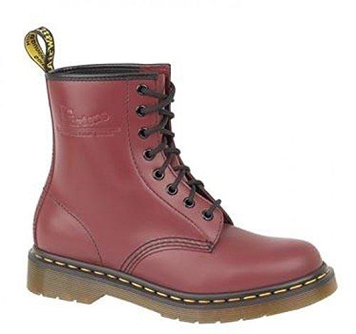 cuir pour rouge PVC Dr nouveau de Chaussures 1460Z lacets cerise Chaussons en Dessus Foot pour homme homme à Martens Wear qvqaxUF