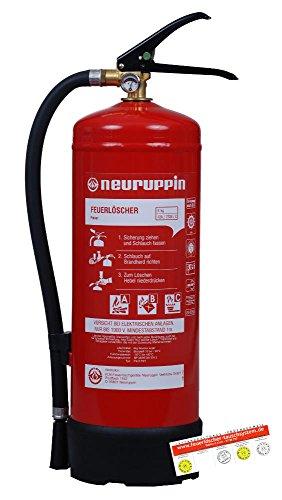 ABC 6kg Pulverfeuerlöscher PG6PDY FLN Neuruppin 15LE (Dauerdrucklöscher Manometer) Typ B Feuerlöscher