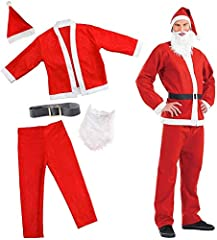 Idea Regalo - Costume e accessori deluxe per Babbo Natale - Vestito festivo superbo per il periodo natalizio