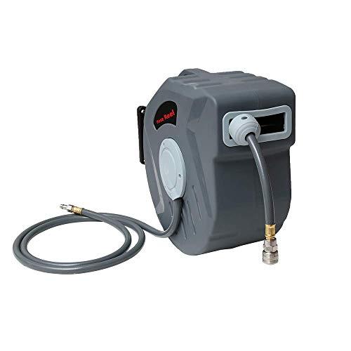 """Drucklufttrommel 20m PVC-Gewebe Schlauchtrommel Druckluftschlauch 1/4""""Schnellkupplung Schlauchstopp 2m Automatischer Druckluftschlauch-Aufroller"""