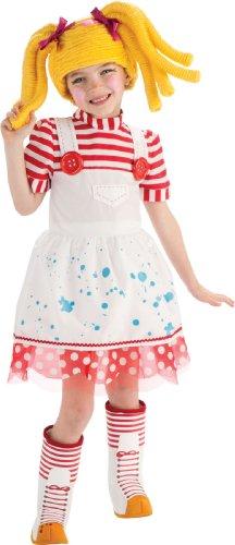 Lalaloopsy Kostüm 1-2 Jahre. Kleid, Kopfschmuck, Boot Tops. ()
