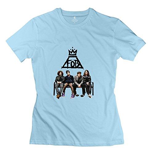 Kst Damen Fall Out Boy T-Shirt Slim Fit Funny Gr. XL, Skyblue (Boy Simpsons Fall Out)