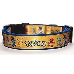 Pokemon Collar Perro Hecho a Mano Talla L sin Correa Dog Collar HandMade
