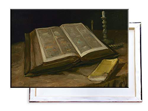 Unified Distribution Vincent Van Gogh - Stillleben mit der Bibel - Klassisches Gemälde - Replik auf Leinwand 100x70 cm