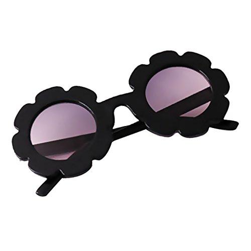 MagiDeal Lunettes de Soleil de Bébé Forme Tournesol 100% Protection UV 400 pour Garçon et Fille - Sûres, Confortables et Très Résistantes - Noir, Unique