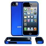 KHOMO IPHONE5-SLID-BLUE Funda para teléfono móvil 10,2 cm (4') Carcasa Deslizante Azul - Fundas para teléfonos móviles (Carcasa Deslizante, Apple, iPhone 5/5s, 10,2 cm (4'), Azul)
