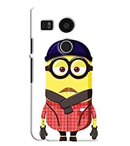 Omnam Minion In Dress Printed Designer Back Cover Case For Google Nexus 5 X