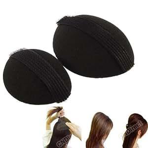 Nirus Hair Base Velcro Bumpits, Black (Pack of 2)