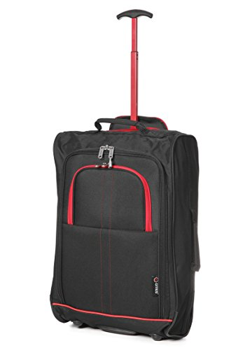 5 Cities , Trolley Unisex, Black / Red (Nero) - TB023