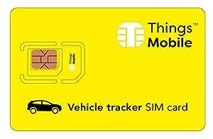 localizador gps coche con tarjeta sim: Tarjeta SIM para LOCALIZADOR / TRACKER GPS de COCHES - Things Mobile - con cober...