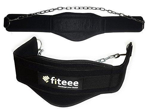 Dip-Gürtel von Fiteee – Gewichthebergürtel,Gym, Fitness, Gymnastik, Gewichtheben Gürtel für schwere Dips und Klimmzüge - für Männer...