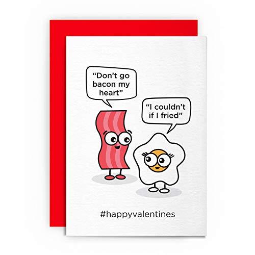 Valentinstagskarte – Don'T GO Bacon My Heart – Lustige lustige romantische Liebesgrüße für Ihn, Freund, Freundin, Ehemann, Verlobte, Schwulen, Heiligen Amor, Essen, Essen zum Valentinstag
