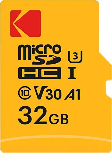 Kodak EKMSDM32GHC10HP Ultra 32GB microSD Speicherkarte, Highspeed, microSDHC, inkl SD-Adapter, UHS-I, U3, A1, V30, bis 95 MB/Sek