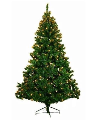 Colourliving Sapin de Noël artificiel pour extérieur/intérieur 210 cm 980 branches 300 LED blanc chaud