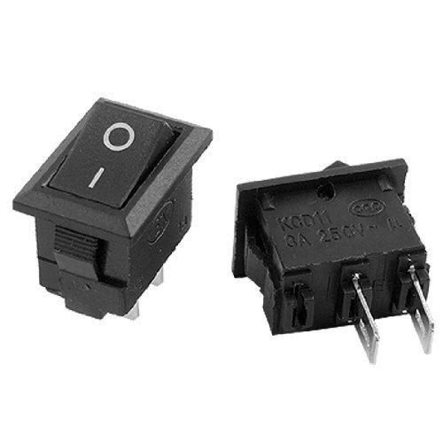 DealMux AC 250V 3A Ein-Aus Zwei Position SPST Boot Rocker Switch Schwarz x 10 Stück - Zwei Rocker Switches