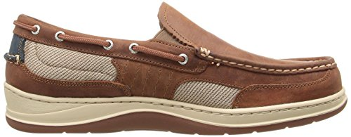 Sebago Men's Clovehitch Slip-on Walnut Leather Boat Shoe 12 W Walnut