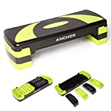 Anchor - Erreichen Sie mehr Aerobic-Step-Step-Step-Board hoch - Übung 3-stufig verstellbar Fitness Workout Yoga Pilates Fitness Home Gym Abnehmbarer Step Rise Block