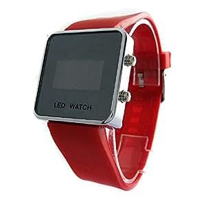 AIO style de sport de luxe LED Digital Mirror Watch - Rouge