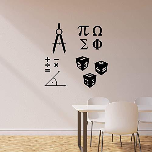 Math Symbol Wandaufkleber Wandbild Für Wand Schule Klassenzimmer Mathematik Wissenschaft Vinyl Wandtattoo Wohnkultur Kunstwand Poster 42x53 cm - Duschvorhänge Wissenschaft