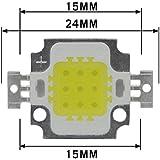 Pgsa2Z 10W Dc 9 Volt Led Chip Cool White Bulb High Power Energy Saving Lamp Chip (1Pair)