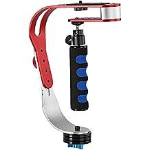 Estabilizador de la camara - TOOGOO(R) Estabilizador estable de camara de video de mano, Perfecto para Smartphone, GoPro1 / 2/3/3 + / 4, Canon, Nikon y otra camara DSLR hasta 3,3 libras / 1,5 kg con Pro suave estable deslizamiento Cam - Rojo + blanco