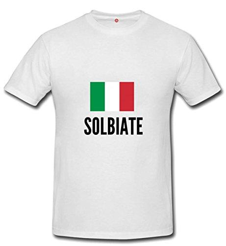 T-shirt Solbiate city White