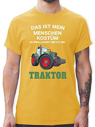 Kostüm Bin Herren - Karneval & Fasching - Das ist Mein Menschen Kostüm in echt Bin ich EIN Traktor - XL - Gelb - L190 - Herren T-Shirt und Männer Tshirt