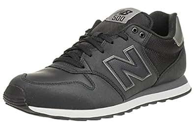 New Balance 500, Chaussures Homme, Baskets Mode, noir, 40 EU