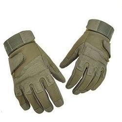 Táctico Blackhawk completo dedo guantes de asalto ergonómico formación de escalada combate militar ejército caza guantes moto exterior combate Paintball Airsoft juego CS–Guantes para hombre (verde ejército, XL)