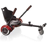 ACBK Hoverboard Rouge Gyropode Trottinette Éléctrique Auto-Équilibrage 6.5 Pouces Bluetooth, Sac de Transport, Télécommande + Hoverkart