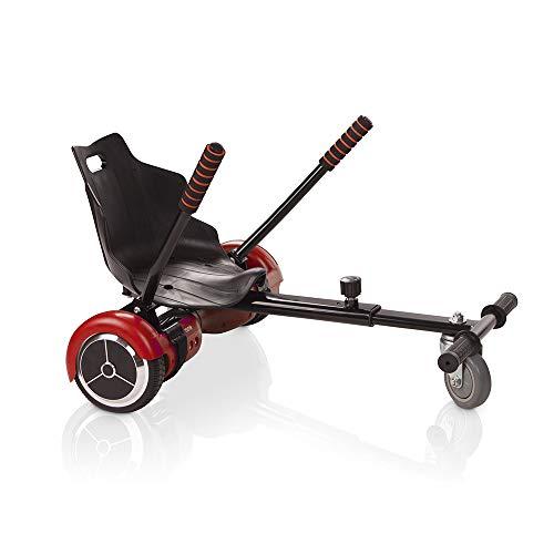 ACBK Pack Hoverboard Patinete Eléctrico Autoequilibrio 6,5' Color Rojo + Hoverkart Color Negro