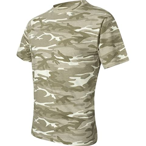 Adult Camouflage Tee (Sand Camo) (Small) by Anvil