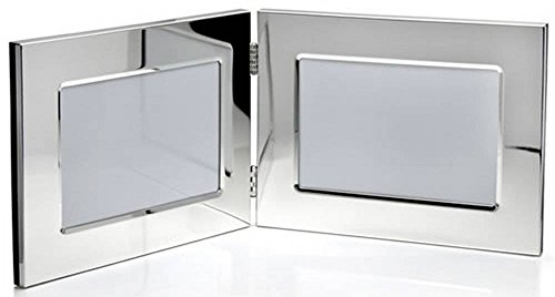 Silver Double Photo Frame 6x4 By David Van Hagen